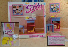 Hasbro Sindy Telephone Table 1990 Box (CooperSky) Tags: hasbro sindy scenesetters 1990 telephone table box