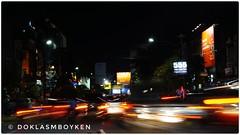 Bandar Lampung downtown road (Doklas M Boyke) Tags: smileonsaturday lightanddark nightshot cityscape downtown road