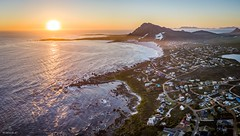 Betty's Bay II (Wim Air) Tags: drone betty bay wimairat southafrica sunset sundown beach orange africa garden route ea sea aereal mavic pro dji