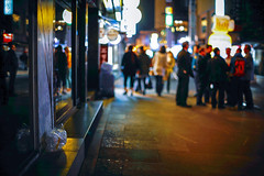 2134/1757:z (june1777) Tags: snap street alley seoul night light bokeh canon eos 5d nikon nikkor 50mm f12 ai 50mmf12ai 1600 clear art4