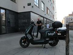 Space Invader BXL_15 (tofz4u) Tags: bruxelles brussels belgique belgie belgium streetart artderue invader spaceinvader spaceinvaders mosaïque mosaic tile bxl15 reactivated restauré spacerescueintl reactivationteam scooter felyx street rue people