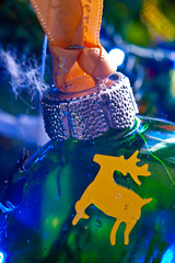2019-12-n10-0186 (dolphinpix) Tags: xmas christmas tree festive decoration marco zoom close gold sparkle magic magical season gree blue hanging gillitter wonder special