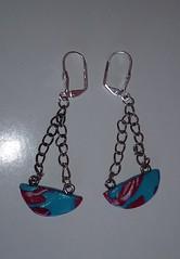 Kreation 163 Ohrringe (Sonia Lietz) Tags: schmuck ohrringe mode blau handgemacht handwerk unikat geschenk
