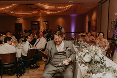 Wedding at Pinstripes (FestivitiesMN) Tags: floral wedding ceremony reception bride groom bridal party ceiling ceilingdrapingwithtwinklelights