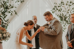Wedding at Pinstripes (FestivitiesMN) Tags: floral wedding ceremony reception bride groom bridal party boutonniere pipe drape