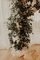 Wedding at Pinstripes (FestivitiesMN) Tags: floral wedding ceremony reception bride groom bridal party pipe drape