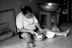 . (Out to Lunch) Tags: woman meal preparation ba chieu market saigon ho chi minh city street daily life la vie quotidienne blackwhite fuji xh1 xf 281655 r lm wr
