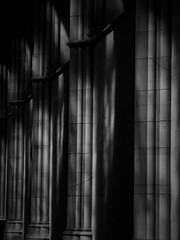 Lancing College Chapel (Julie Rutherford1 ( off/on )) Tags: arches julie rutherford light lancing school chapel black pillars sussex shadows college
