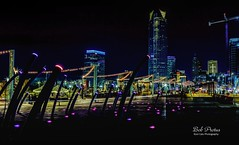 Bright Lights of the City (Kool Cats Photography over 13 Million Views) Tags: nightshot skyscrapers landscape luminar lights oklahoma oklahomacity outdoor christmaslights scissortailpark photography architecture artistic streetphotography lighting aurorahdr hdr