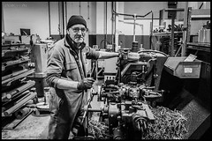 The Works.... (deltic17) Tags: work worker man workman engineer engineering blackwhite monochrome factory drill metal workshop theplant moment time life