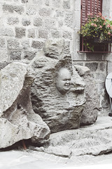 sBs_1907(vac2)_0206-2 copy (schoolartBYschoolboy) Tags: auvergne puydedome village medieval face