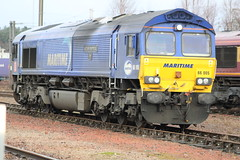 MOSSEND 66005 MARITIME INTERMODAL ONE (johnwebb292) Tags: mossend diesel class 66 66005 maritimeintermodalone dbs
