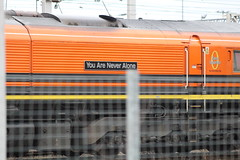 MOSSEND 66415 YOU ARE NEVER ALONE (johnwebb292) Tags: mossend diesel class 66 66415 youareneveralone freightliner plaque