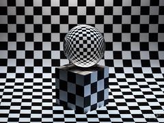 γεωμετρία (Antonio Iacobelli (Jacobson-2012)) Tags: escher metaphysic crystal sphere glass chessboard metaphysics bari fujifilm gfx50r fujinon 120mm macro geometria