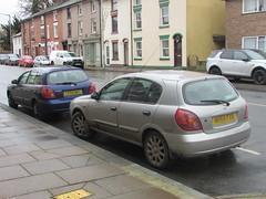 Nissan Almera x2 (Andrew 2.8i) Tags: uk classics classic wales kingdom united streetspotting cars car street spotting carspotting n16 japanese hatch hatchback s sve almera nissan