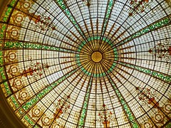 -The dome of the Entrance hall in Htl Bolivar (Lewitus) Tags: lima hotel bolivar
