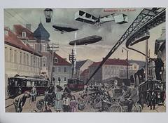 Steampunk: Ballenstedt in der Zukunft (DymphieH) Tags: postcards received vintage vehicles