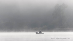 Lac de Saint-Point - France (My Planet Experience) Tags: mist misty fog morning fisher boat fisherman lake panorama horizontal monochrome blackandwhite saintpoint jura doubs hautdoubs france fr myplanetexperience wwwmyplanetexperiencecom