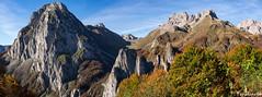 Les orgues de Camplong (penelope64) Tags: pyrénées pyrénéesatlantiques béarn lescun olympusem1 panoramique falaises automne forêt