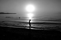 May Sun Shine on You (Glocal Citizen) Tags: people sunset silhouette lake lakescape beach anatolia anadolu turkey türkiye monochrome boy