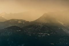 A-0926 (markbyzewski) Tags: sunrise palmerpark colorado coloradosprings tree sun cloud pikespeak mountain grass