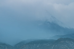 A-0924 (markbyzewski) Tags: sunrise palmerpark colorado coloradosprings tree sun cloud pikespeak mountain grass