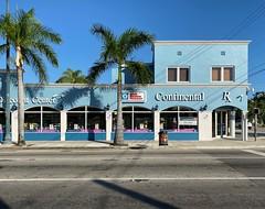 Retail Building Calle Ocho 1930 (Phillip Pessar) Tags: building architecture 1930 little havana calle ocho miami pharmacy drug store south tropical curb market