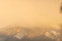 A-0911 (markbyzewski) Tags: sunrise palmerpark colorado coloradosprings tree sun cloud pikespeak mountain grass