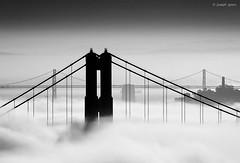 San Francisco (Joseph Greco) Tags: goldengatebridge oaklandsanfranciscobaybridge bridge bridges fog blackandwhite city coittower sanfrancisco
