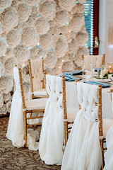 The Anderson Wedding | Tessa June Photography (FestivitiesMN) Tags: pcatwedding bearpathwedding floral bouquets chair draping sash