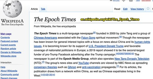 WikiPedia page for The Epoch Times by Wesley Fryer, on Flickr