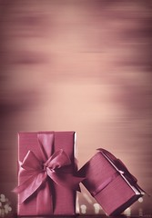 Two Gifts (Ronnie Gaye) Tags: gifts presents monochrome pink bow ribbon