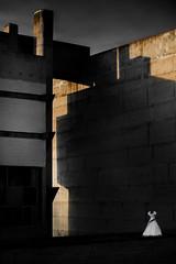 Pure Evanescence (Phil Chapp) Tags: anselmfiefer viergeetmartyres couventdelatourette lyon 2019 lecorbusier biennaledartcontemporain architecture ombres lumières graphisme mur béton canon 5dmarkiv philchapp robe blanc