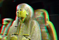 Mummy-case RMO-Leiden 3D (wim hoppenbrouwers) Tags: mummycase rmoleiden 3d anaglyph stereo redcyan anchefenchonsoe coffin egypt rijksmuseumvanoudheden mummiekist iso1600 nikkor d7000