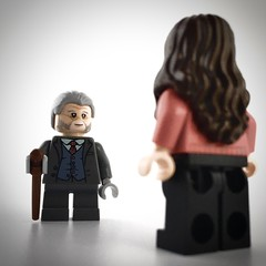 """Welcome home, Ms Vanya."" (theoctopirate_customs) Tags: lego umbrella academy pogo vanya hargreeves purist custom minifigure minifigures afol"