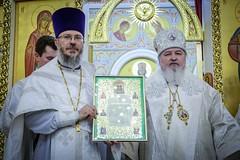14 декабря 2019, Преподаватели и студентки Регентской школы молились за великим освящением храма Преображения Господня г. Ставрополя