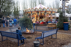 Christmas in Den Bosch. (PeteMartin) Tags: boy child christmas denbosch fire roundabout xmas netherlands