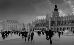 People in Krakow_ (@Mlk_Dahoui) Tags: europe place krakow monument square tower blackandwhite ark bw art poland sky clouds grey effect paint nikon d750 travel winter cold