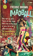 Madball by Fredric Brown. Gold Medal S-1132 (1961). Cover Art by Mitchell Hooks (lhboudreau) Tags: goldmedal goldmedals1132 goldmedalbooks1132 goldmedalbookss1132 paperback paperbacks vintagepaperback vintagepaperbacks vintagepaperbackart paperbackart coverart madball fredricbrown gga goodgirlart suspense mystery 1961 mitchellhooks goldmedalbook goldmedalbooks crime paperbackcrime crimes paperbackcrimes illustration drawing sexy sexycover bikini sideshow crystalball dancer dancers barker hoochiecoochie