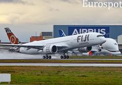 DQ-FAJ Airbus A350 Fiji Airways, delivery flight (@Eurospot) Tags: dqfaj airbus a350 a350900 fijiairways toulouse blagnac avgeek