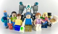 The Smith Family (LEGO Rick and Morty) (theoctopirate_customs) Tags: lego rick morty summer beth jerry sanchez smith snu snowball mr meeseeks custom purist minifigure minifigures moc afol