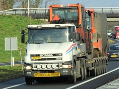 Scania T144G 530 from Aduco Holland. (capelleaandenijssel) Tags: bjjf91 truck trailer lorry camion lkw netherlands nl