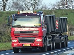 Ginaf X3332S drawbar from Poppink reutum Holland. (capelleaandenijssel) Tags: bsxr57 truck trailer lorry camion lkw netherlands nl