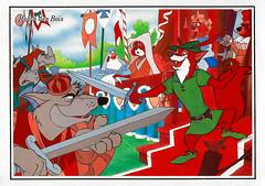 Robin Hood (1973) (Truus, Bob & Jan too!) Tags: robinhood robin hood 1973 waltdisney disney walt vintage animation film cinema kino cine picture screen movie movies postcard postkarte carte postale cartolina tarjet postal postkaart briefkarte briefkaart ansichtskarte ansichtkaart md lesdessinsdewaltdisney