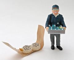 Train Station Bentos # 11 Secret Set (MurderWithMirrors) Tags: rement miniature food meal bento onigiri nigirimeshi ekiben riceball securetset man seller mwm