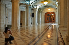 Bucharest, The interior view of Palace of Parliament (gerard eder) Tags: world travel reise viajes europa europe romania bucharest bukarest architecture arquitectura architektur houseofthepeople parliamentpalace palaceofparliament interiorview
