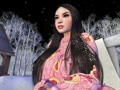 Feeling the snowfall (freyabloodrose) Tags: life sl second world female mesh avatar secondlife virtual maitreya magika catwa