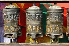 Prayer Wheels (Treflyn) Tags: prayer wheel buddha buddhist monkey temple swayambhunath stupa kathmandu nepal