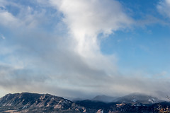 A-0937 (markbyzewski) Tags: sunrise palmerpark colorado coloradosprings tree sun cloud pikespeak mountain grass