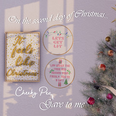 On the second day of Christmas (Isla Gealach / Cheeky Pea) Tags: secondlife secondlifehome homeandgarden countrylane cheekypea home christmas gift winter twelvedaysofchristmas